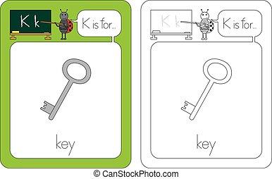 flashcard, k, 手紙