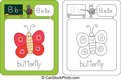 Flashcard letter B - Flashcard for English language - letter...