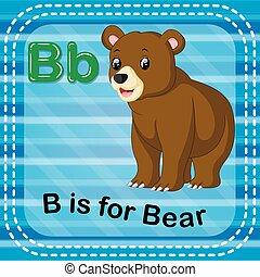 Flashcard letter B is for bear - illustration of Flashcard...