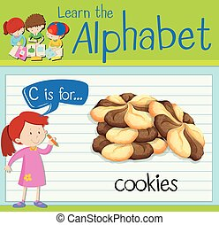 Flashcard letter C is for cookies