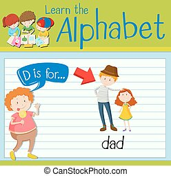 Flashcard letter D is for dad