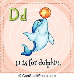 Flashcard letter D is for dalphin