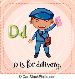 Flashcard letter D is for delivery