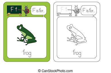 Flashcard letter F - Flashcard for English language - letter...
