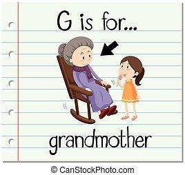 Flashcard letter G grandmother