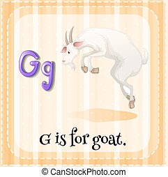 Flashcard letter G is for goat