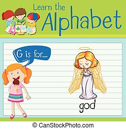 Flashcard letter G is for god