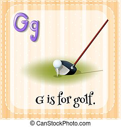 Flashcard letter G is for golf
