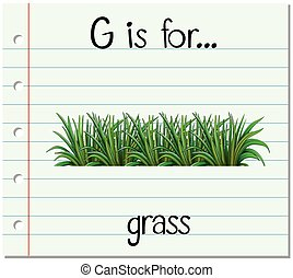 Flashcard letter G is for grass