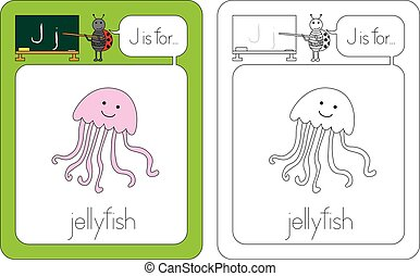 Flashcard letter J - Flashcard for English language - letter...