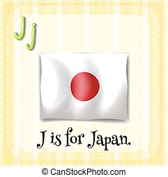 Flashcard letter J is for Japan