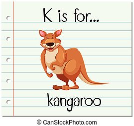 Flashcard letter K is for kangaroo