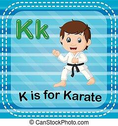 Flashcard letter K is for karate - illustration of Flashcard...
