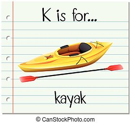 Flashcard letter K is for kayak
