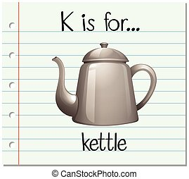 Flashcard letter K is for kettle