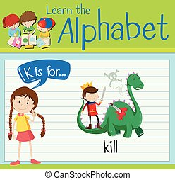 Flashcard letter K is for kill