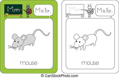 Flashcard letter M - Flashcard for English language - letter...