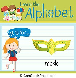 Flashcard letter M is for mask