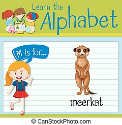 Flashcard letter M is for meerkat