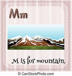 Flashcard letter M is for mountain