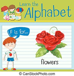 Flashcard letter R is for flowers