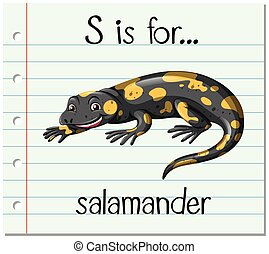 Flashcard letter S is for salamander