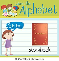 Flashcard letter S is for storybook