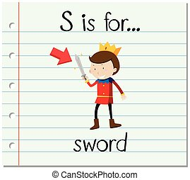 Flashcard letter S is for sword