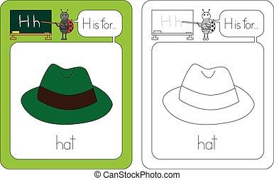 flashcard, litera h