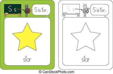 flashcard, s, 手紙