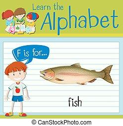 flashcard, visje, brief f