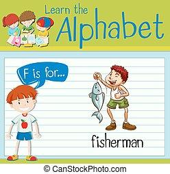 flashcard, visser, brief f