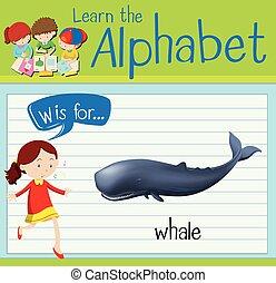 flashcard, wal, w, brief