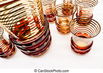Flashed Glass Decanter Set