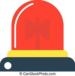 Flasher alarm vector illustration.