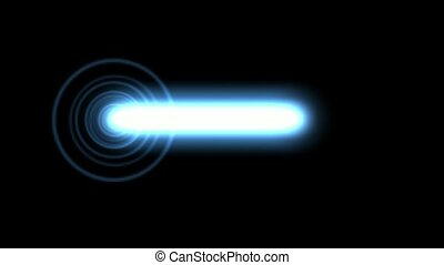 Flashing blue circle pulse and white laser,seamless loop,def
