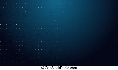 Flashing blue dots