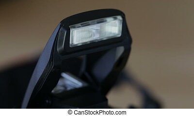 Flashing built-in flash. Photographing - Flashing the...