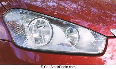 flashing car headlamp turn