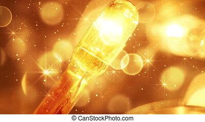 flashing christmas lightbulb extremly close-up loopable