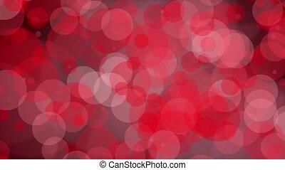 Flashing circles in red
