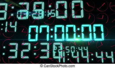 """Flashing decimal digits and rotating clock arrows"" -..."