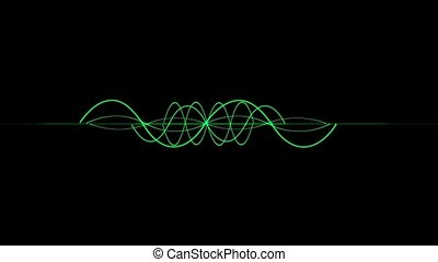 Flashing Green Curved Lines