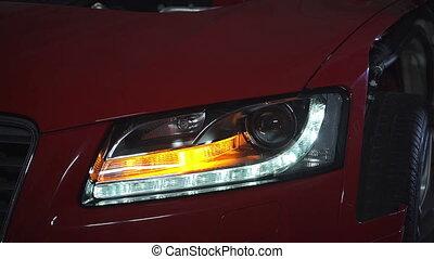 Flashing indicator on car