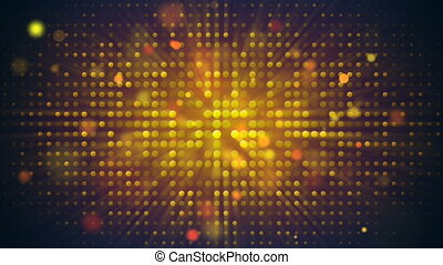Flashing light bulbs disco wall loopable background -...