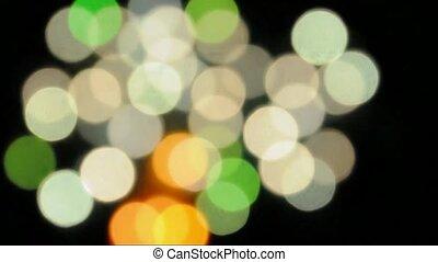 Flashing light circles abstract blur