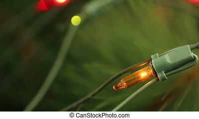 flashing light garlands. macro. - flashing light garlands....