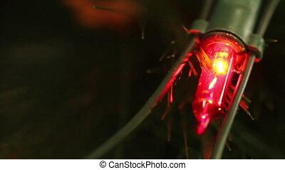 flashing light garlands. macro HD