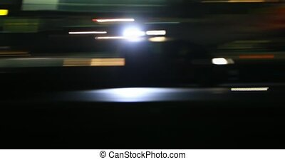 Flashing light of car - Airport gruard car with flashing...
