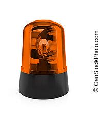 Flashing light - 3d render of orange flashing light on a...